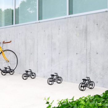 A Bicycle-Shaped Bicycle Stand by Yuma Kano