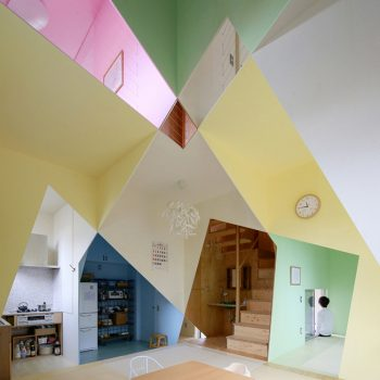 Cross-Sections Form a Technicolor Cubist Home in Tokyo