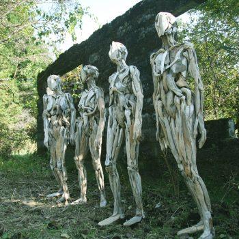 The Eerie Humanoid Driftwood Sculptures of Nagato Iwasaki