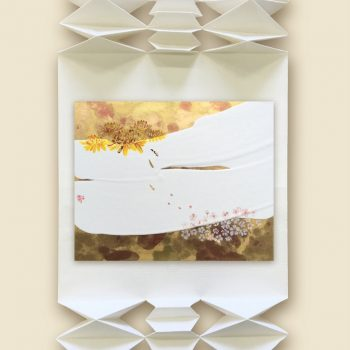 Accordion Folding Scrolls Frame Collages by Nao Morigo