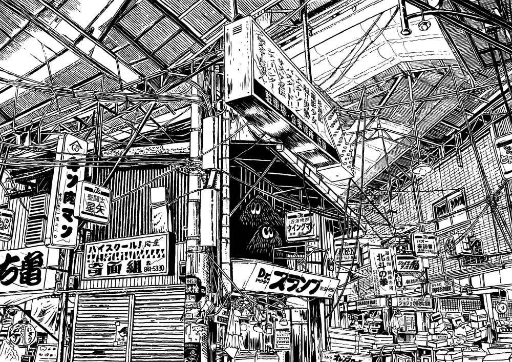Quirky Ballpoint Pen Illustrations of Japan by Yukihiro Tada