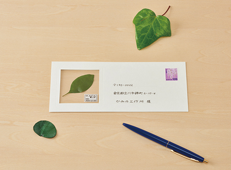 Japanese Stationery Lets You Send a Specimen From Your Travels