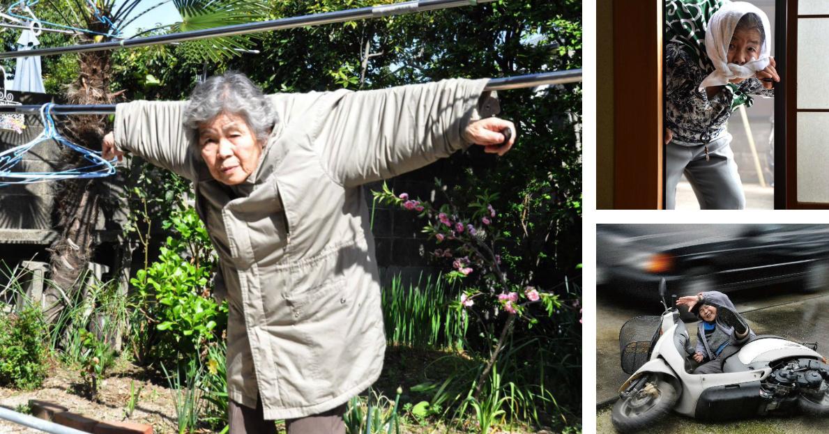 89-Year Old Kimiko Nishimoto Loves Taking Humorous Self