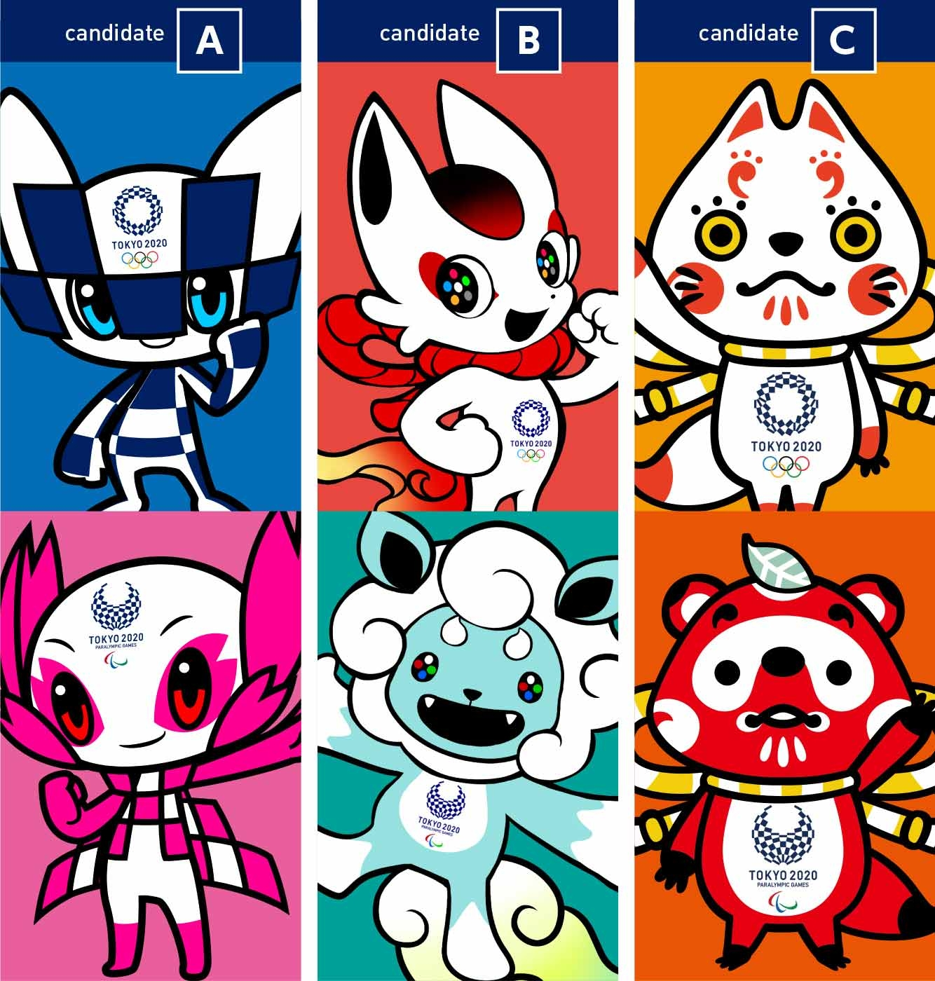 The Tokyo 2020 Olympic Mascot Candidates Unveiled | Spoon