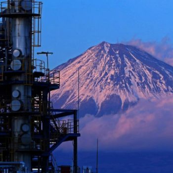 Photographing Factories Against a Mt. Fuji Backdrop