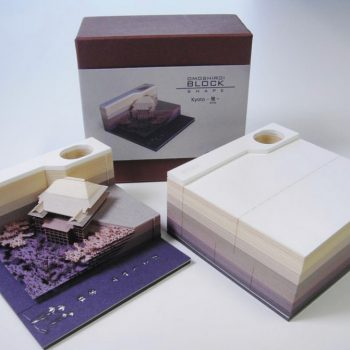 Omoshiroi Block: A Memo Pad That Excavates Objects as it Gets Used