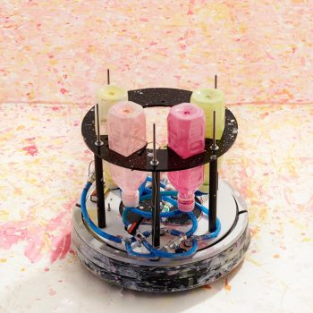 Masato Yamaguchi Hacked a Cleaning Robot to Create an Autonomous Robotic Painter