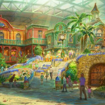 New Illustrations of the Ghibli Theme Park, Set to Open in 2022