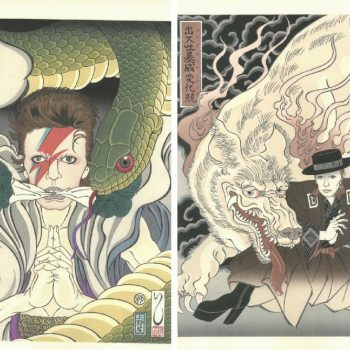 A Project to Immortalize David Bowie in Traditional Woodblock Prints