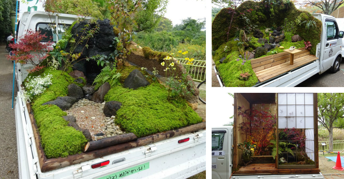 The Japanese Mini Truck Garden Contest is a Whole New Genre in ... on mini japanese garden, mini sand garden, mini plant garden, mini gardens in pots, mini garden table, mini meditation garden, mini bonsai garden, mini indoor garden, mini roof garden, mini fairy gardens, mini world garden, mini herb garden, mini garden design, miniature mini garden, mini bamboo garden, mini garden accessories, mini trees, mini bog garden, mini vegetable garden, mini garden tool set,