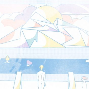 Lovely Geometric, Pastel-Colored Illustrations by Akira Muracco