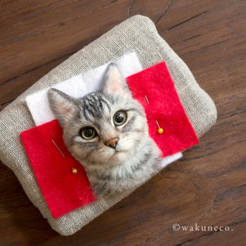 Wakuneco Will Create Realistic 3D Felt Portraits of Your Cat