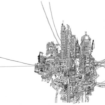 Ultra Dense Pen Drawings of Ginza by Nobumasa Takahashi