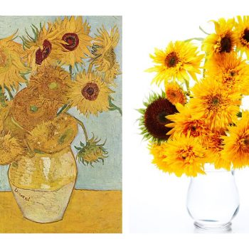 Famous Paintings of Flowers Recreated in Real Life