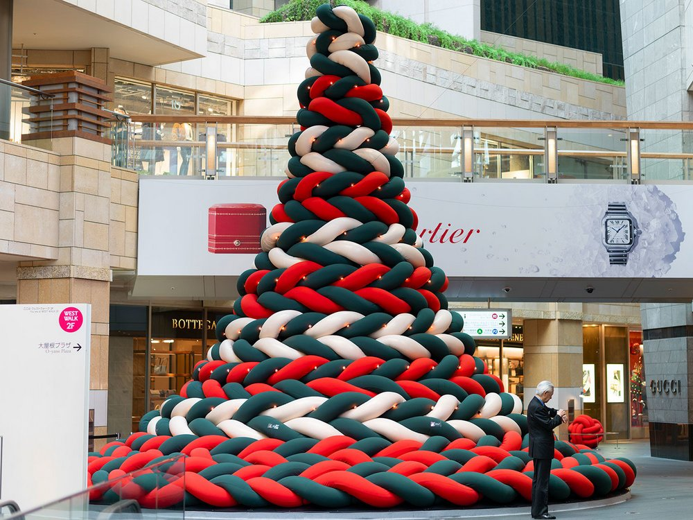 Japanese Christmas Tree.A Nap Able Christmas Tree Emerges In Roppongi Hills Spoon