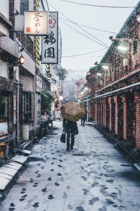 photographs of a snowy tokyo by yusuke komatsu spoon. Black Bedroom Furniture Sets. Home Design Ideas