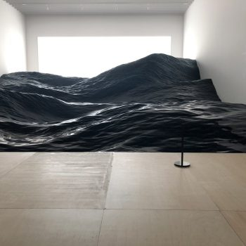 A Sculpture of Waves Installed in a Museum by Art Unit Mé