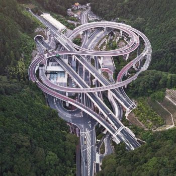 Aerial Photos Reveal the Sculptural Beauty of Japanese Highway Interchanges