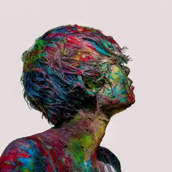 Kanako Shintaku Covers Her Body in Paint to Create Surreal Portraits
