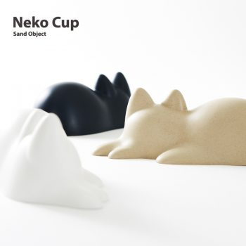 Neko Cup Creates Adorable Napping Cat Sand Sculptures
