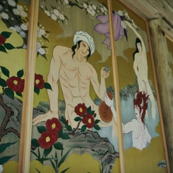 Ikemen Kanno Emaki:  Sensual Artwork Installed in 1300-Year Old Temple