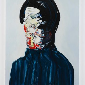 Gestural Brushstrokes Form Abstract Portraits by Teppei Takeda