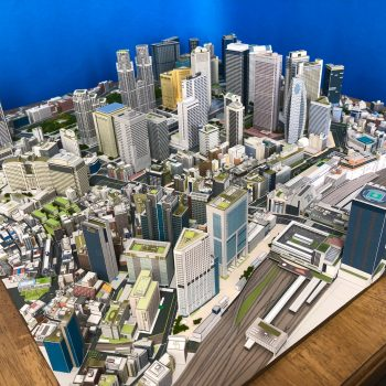 A Miniature Model of Shinjuku Built Entirely From Paper