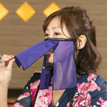 A Traditional Kimono Maker is Creating Face Masks for Nightclub Hostesses