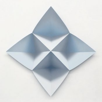 Origami-Inspired Optical Illusion Oil Paintings by Momo Yoshino