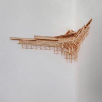 Architectural Corner Kamidana Altars by Naohiko Shimoda