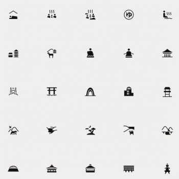 Over 250 Pictograms Depicting Japanese Culture, Released to the Public for Free Use
