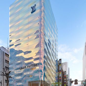 Jun Aoki's New Facade for Louis Vuitton Ginza is Like a Shimmering Pillar of Water