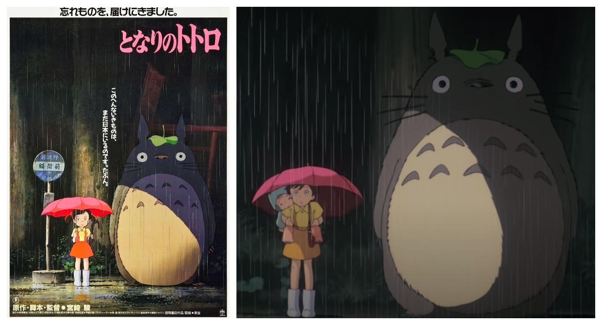 The Secret Behind the Mysterious Girl in 'My Neighbor Totoro' Posters