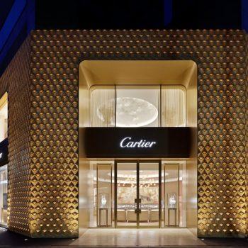 Cartier Osaka's New Three-Dimensional Facade Made from 2500 Hand Crafted 'Masu'