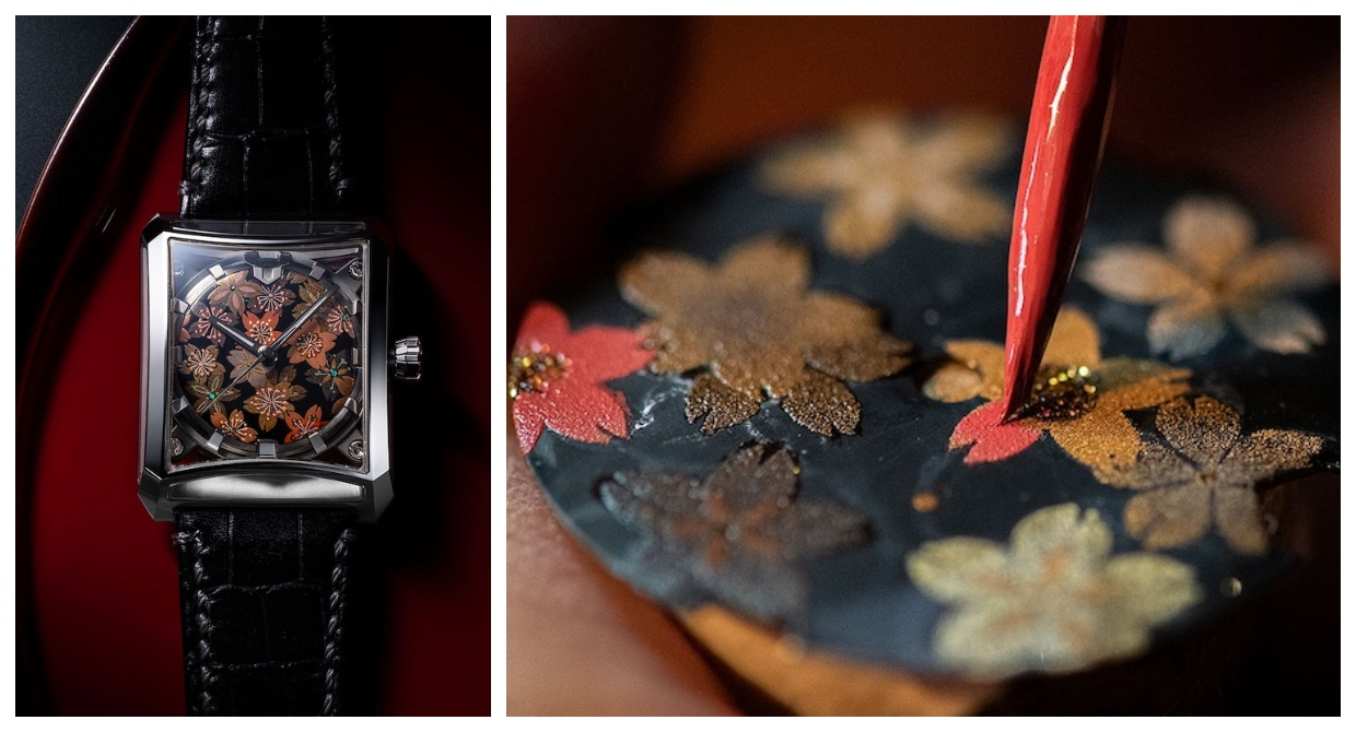 Japanese Watchmaker Collaborates with Urushi Artisan to Create Elegant Lacquered Timepieces