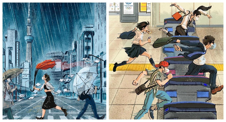 Playful Everyday Olympics by Tokyo-Based Illustrator Adrian Hogan ...