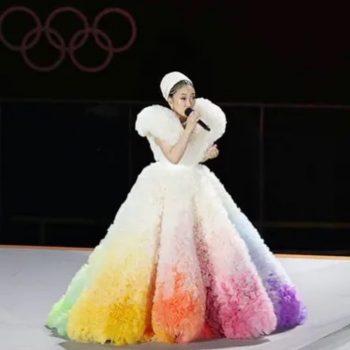 Misia's Kakigori Dress for the Olympic Opening Ceremony, Designed by Tomo Koizumi