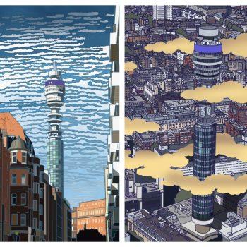 London-Based Illustrator Edward Luper's 36 Views of the BT Tower